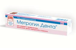 Метрогил Дента при опухании десны